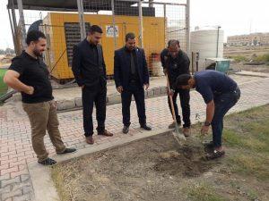 حملة زراعة حدائق كلية العلوم الاسلامية