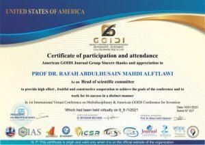 اختيار تدريسية بكلية العلوم الاسلامية لرئاسة اللجنة العلمية لمؤتمر جويدي الأمريكي