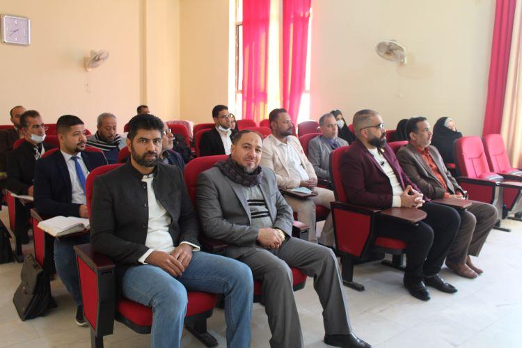 كلية العلوم الاسلامية تنظم ندوة علمية بذكرى شهادة السيدة الزهراء (ع) (1)