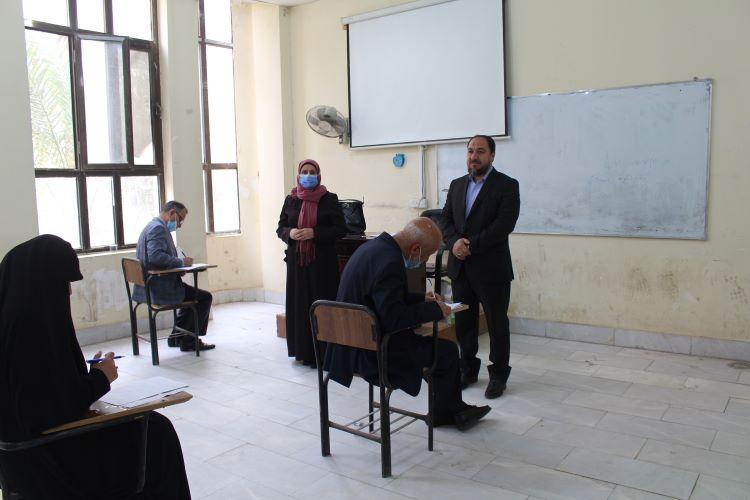 كلية العلوم الاسلامية تجري امتحانات الفصل الاول لطلبة الدراسات  العليا حضورياً
