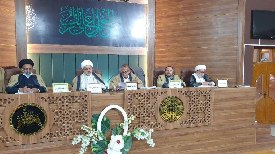 عميد كلية العلوم الاسلامية يشارك في مناقشة أطروحة دكتوراه بجامعة الكوفة