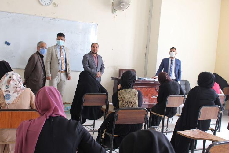 كلية العلوم الاسلامية تجري امتحانات الفصل الأول الحضورية