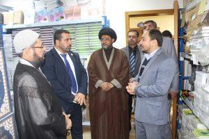 وفد من كلية العلوم الاسلامية يزور دار القرأن الكريم في العتبة الحسينية المقدسة