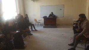 مناظرة علمية حوارية في قسم اللغة العربية