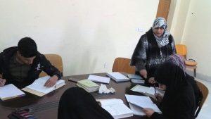 زيارة طلبة قسم اللغة العربية إلى مكتبة الكلية