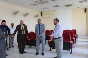 رئيس جامعة كربلاء يزور كلية العلوم الاسلامية