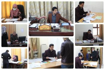 شعبة التسجيل في كلية العلوم الاسلامية تستقبل الطلبة الجدد المقبولين في الدراسة الاولية الصباحية